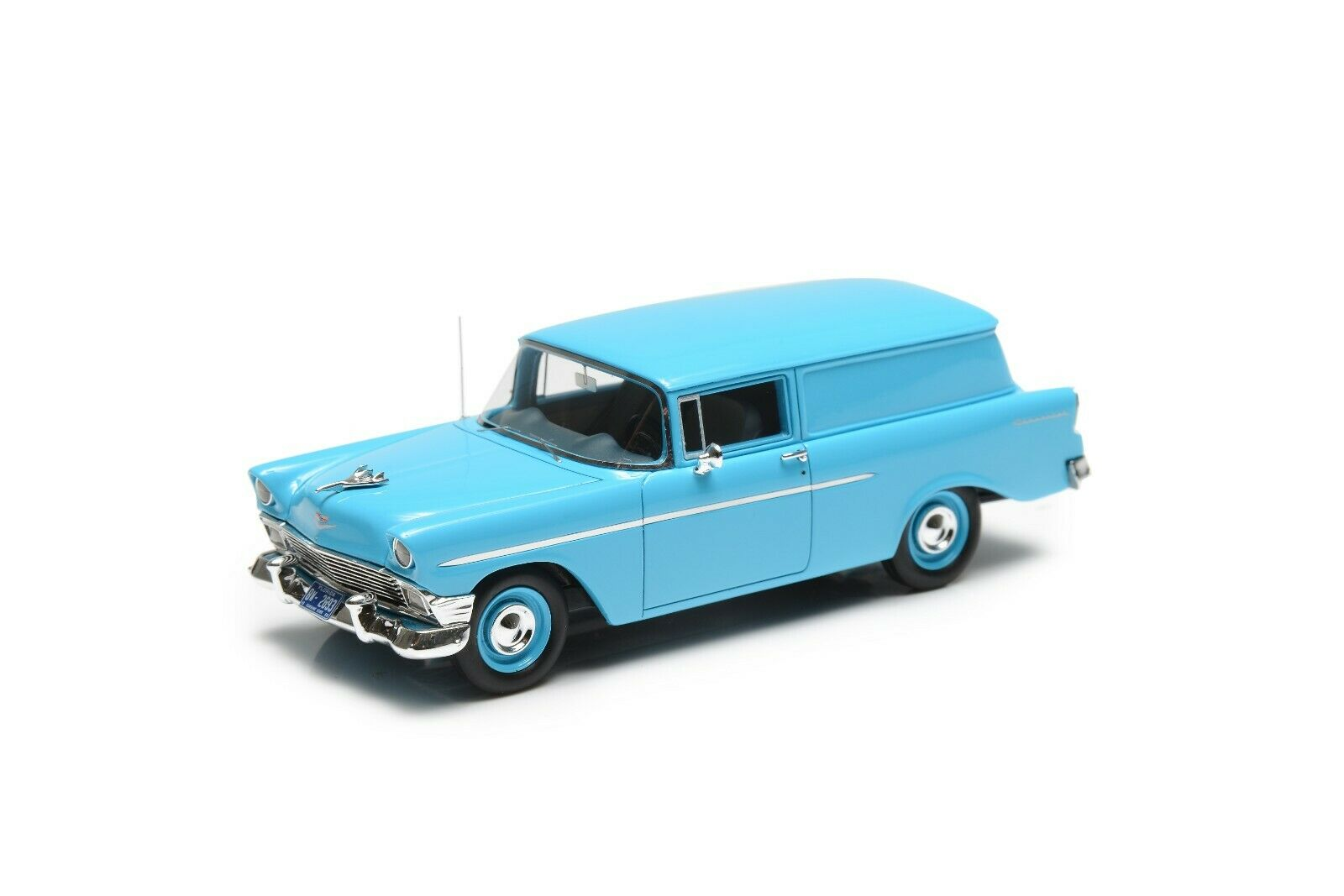 seguro de calidad Esval Modelos 1956 Chevrolet 150 Handyman Panel Panel Panel entrega-Azul 1 43 modelo de resina  hasta un 65% de descuento