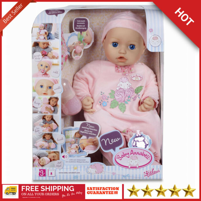 """Baby Annabell Doll by Zapf 18"""" Makes Sounds 5 Accessories ..."""