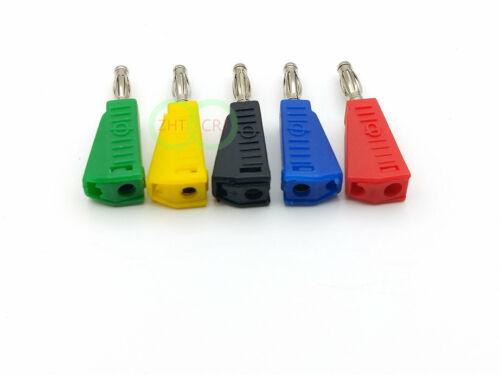 100 pcs 5 Color Banana Plug for test sondes 4 mm Binding Post Jack à Souder