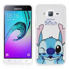 Carcasa Funda De Silicona TPU Ultra Fina Stitch para Samsung Galaxy J3 2016
