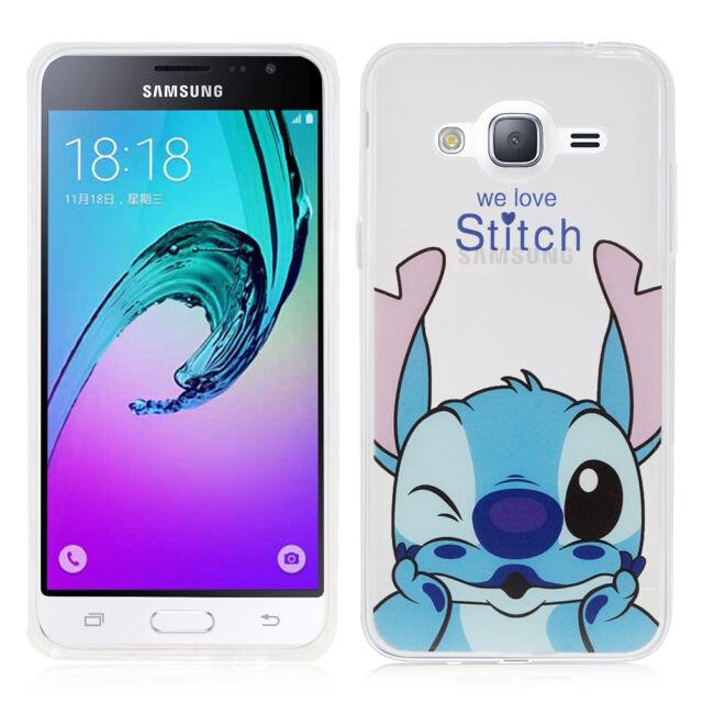 fe76853988e Carcasa Funda de Silicona TPU Ultra Fina Stitch para Samsung Galaxy J3 (2016 )