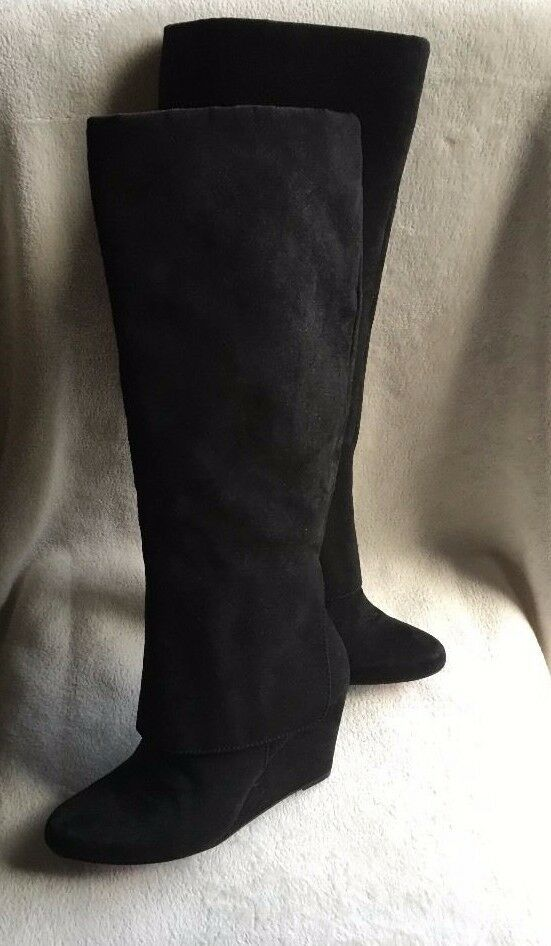 Jessica cuff Simpson Riese tall wedge Stiefel long shaft cuff Jessica covers schwarz Größe US 8.5 a370ed