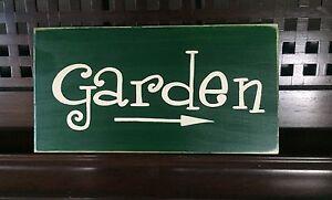 GARDEN-with-Arrow-Wall-Decor-Sign-Plaque-Gardner