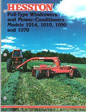 1977 HESSTON TRACTOR WINDROWERS 1014 1010 1090 1070 MOWER EQUIPMENT BROCHURE