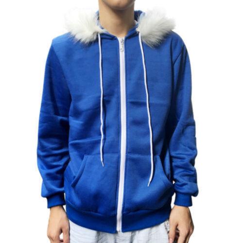 Men Women Cosplay  Fleece Hooded Thick Jacket Sweater Costume Warm Sport Coat