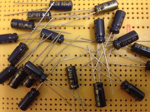10V 22uF 33uF 47uF 82uF 100uF 220uF 330uF 470uF Aluminium Capacitors Radial