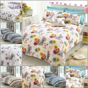 Duvet-Cover-with-Pillow-Case-Quilt-Cover-Bedding-Set-Single-Double-King-Size-UK