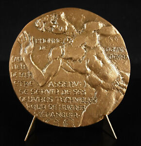 Medal-Georges-Friedmann-Sociologist-L-039-Man-amp-the-Machine-Young-Athlete-Medal