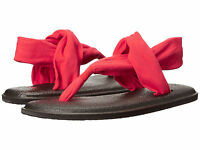 Women Sanuk Yoga Sling 2 Flip Flop Sandal Sws10001 Red 100% Original Brand