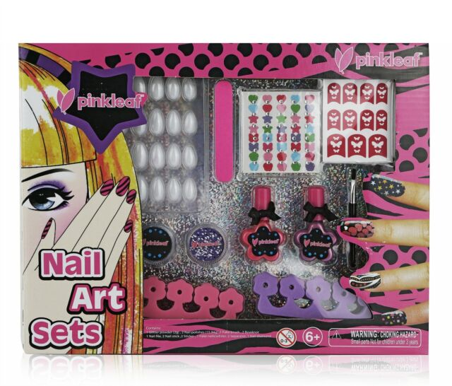 Pinkleaf 3d Nail Art Kit for Kids With Glitter Gems Stickers ...