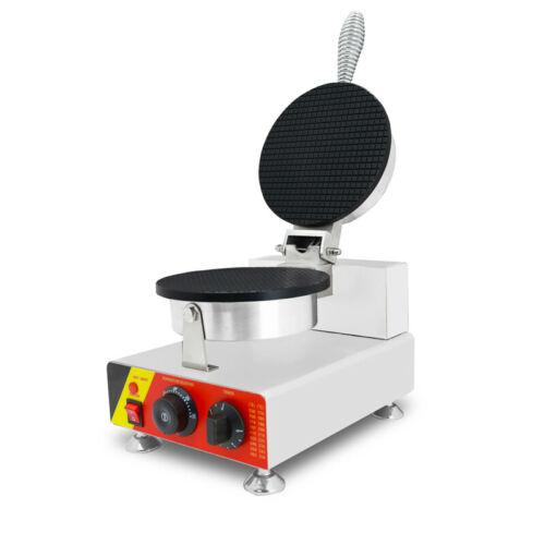 110V Electric Stainless Steel Ice Cream Waffle Cone Maker Machine