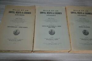 Mille-et-un-contes-recits-et-legendes-Arabes-Rene-Basset-en-3-tomes-1924-27