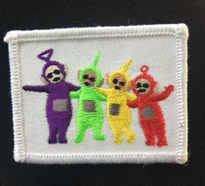 TELETUBBIES-Embroided-Sew-Iron-on-DIY-Kids-Clothes-Patch-Applique-Motif
