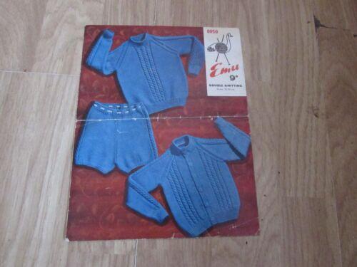VINTAGE tricot//crochet patrons pour Bébés//Enfants Jumpers//cardigans//Châles
