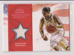 2012 TOPPS OLYMPIC MAYA MOORE RELIC CARD ~ WNBA ~ UCONN ~ MULTIPLES AVAILABLE