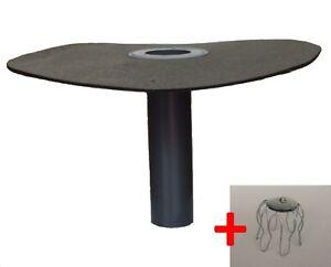 Flachdachablauf-DN-70-Laubfang-Bitumen-Flansch-rund-Dachgully-Einlauf-DN-75