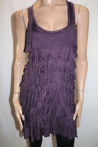BAMBOO-BLONDE-Brand-Plum-Purple-Layered-Frill-Dress-Size-M-BNWT-SH64