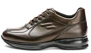 7ca5bb022f606 Caricamento dell immagine in corso FRAU-24M3-MARRONE-BLU-scarpe-uomo -pelle-camoscio-