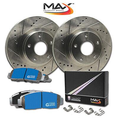13 15 Fit Subaru XV Crosstrek OE Replacement Rotors w//Ceramic Pads R