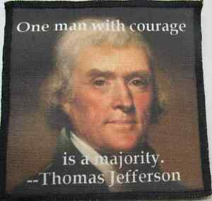 Sew On THOMAS JEFFERSON QUOTE 1 Act like the world/'s watching Printed Patch