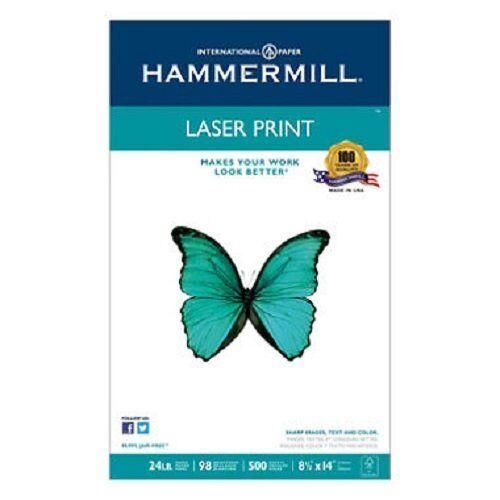 3 X Hammermill Laser Print, 24lb 8-1 2 x 14 Inch, 98 Bright, 500 Sheets 1 Ream