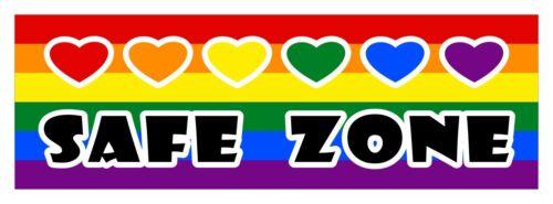 Safe zone LGBT Gay Lesbian diversity decal sticker 3 x 9