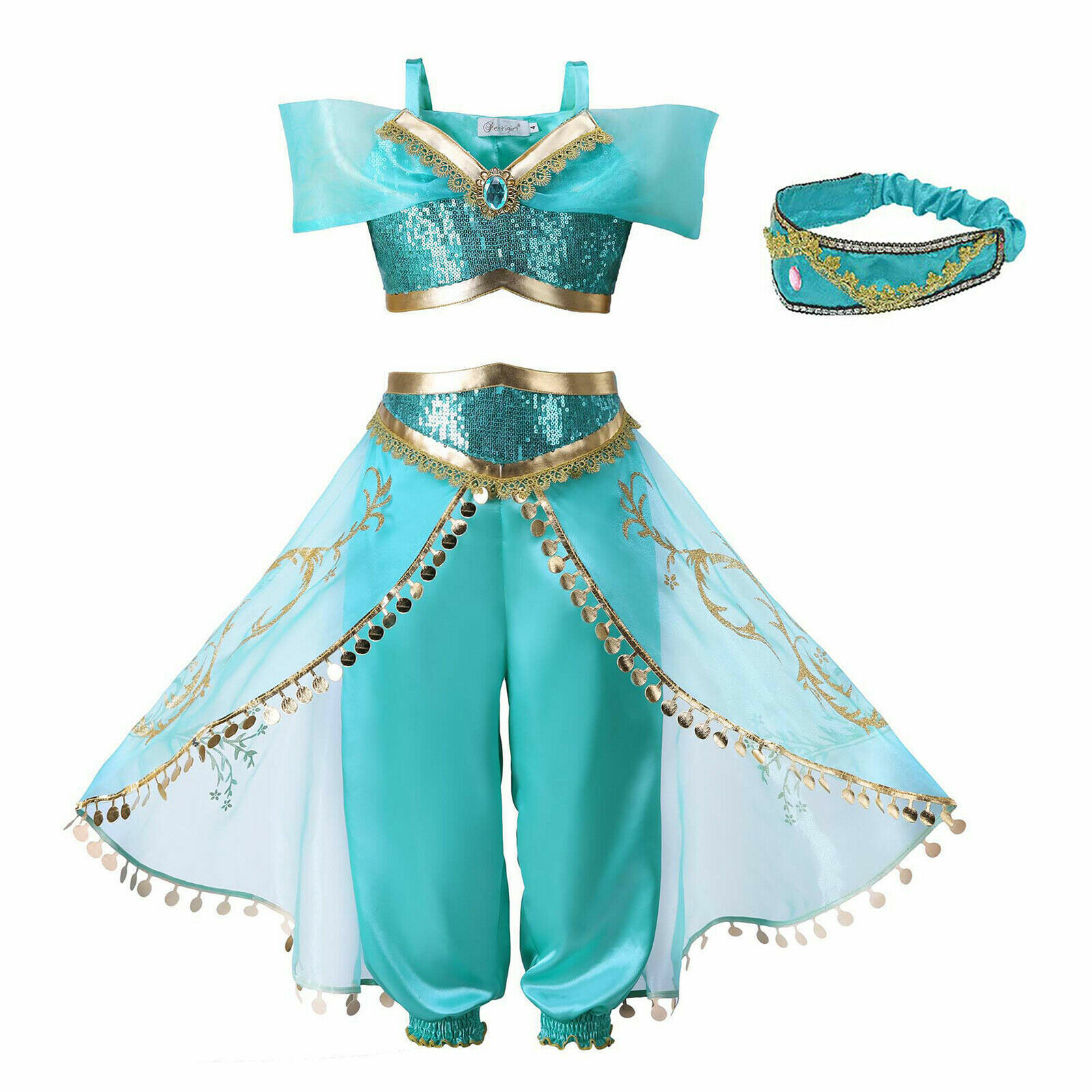 UK Seller Halloween Anna dress Party Costume Fancy dress Kids Girls Age 3-8