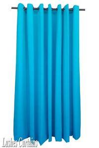 Turquoise-96-034-H-Velvet-Curtain-Panel-w-Grommet-Top-Eyelet-Window-Treatment-Drape