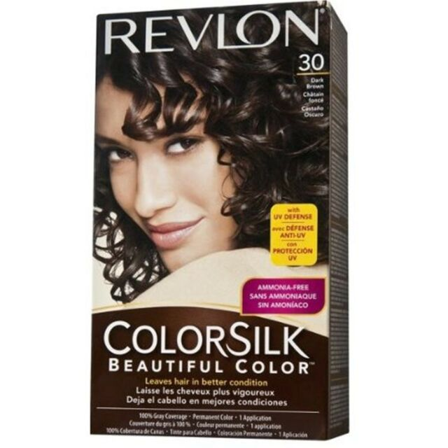 570d6119547 Revlon Colorsilk Permanent Color Haircolor 30 Dark Brown 1 for sale online