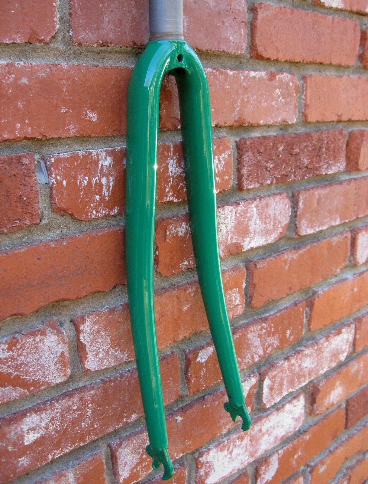 NUOVO Murphy verde 100% cromo in acciaio attrezzi fissi strada strada strada Bike Fork 362Navi libera USA 9b4