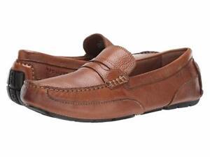 Rockport Oaklawn Park Penny Driver Moc Brown Black Tan Leather Men/'s Shoes
