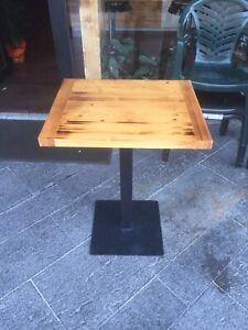 Tavoli Da Bar Per Esterno.Tavolo Tavolino In Ferro E Legno Quadrato 60x60 Da Bar Per Esterno