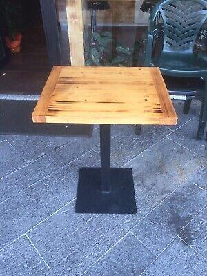 Tavolo tavolino in Ferro E Legno quadrato 60x60 da bar per ...