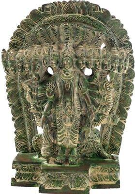 Lord Vishnu Hindu Sculpture Made in Brass