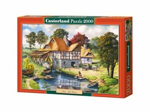 "Castorland Puzzle 2000 Pieces - Water Mill Cottage - 36""x27"" Sealed box C-200498"