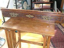 antike Beschläge Schloß Bronzebeschläge Schreibtisch Schublade Front Massiv