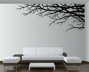 Living Room Decor Stickers large vinyl decor sticker wall mural art tree top branches living