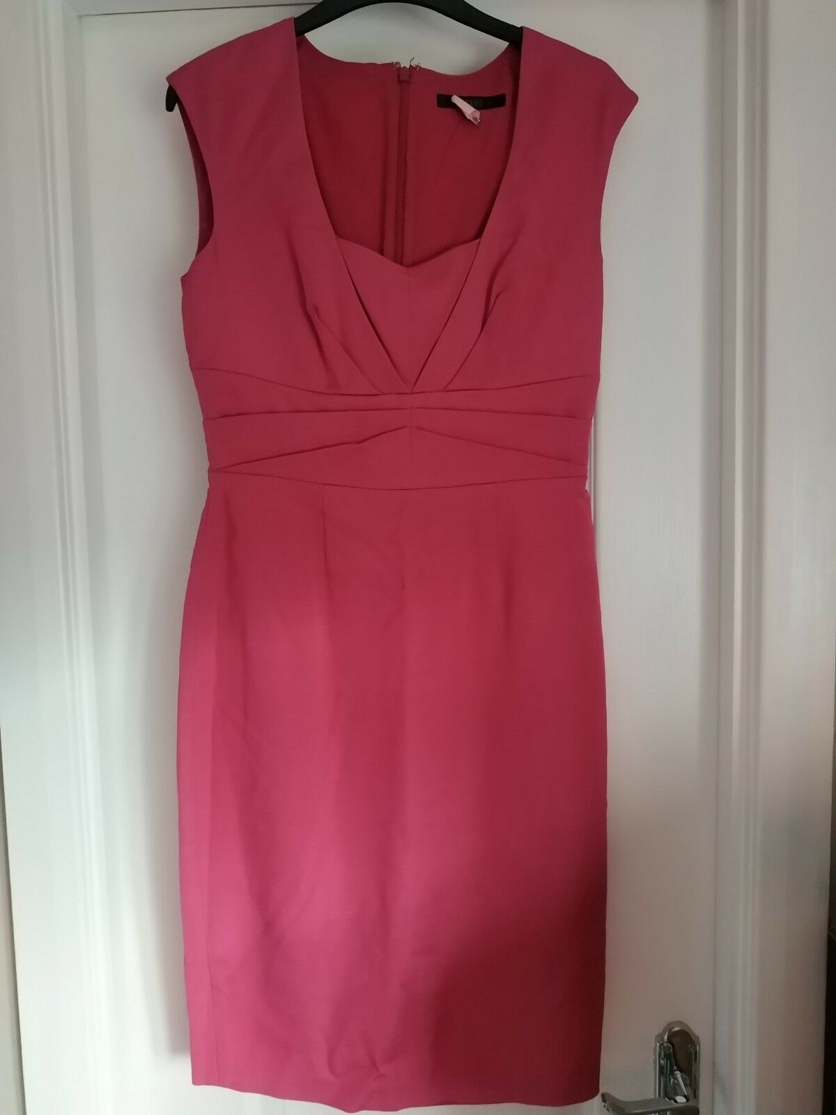 Coast Bright Pink Pencil Dress Size 10 Immaculate Office Work Party