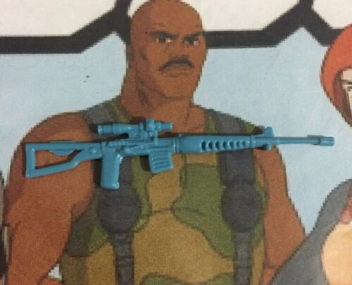 Dragunov SVD Vintage 1986 Cobra G.I.Joe Accessory Sniper Rifle Light Blue