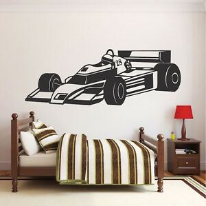 Image Is Loading Race Car Wall Decal Boys Racing Vinyl