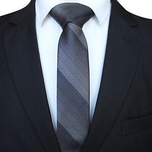 Classic Striped Silver Black JACQUARD WOVEN 100/% Silk Men/'s Tie Necktie Hot