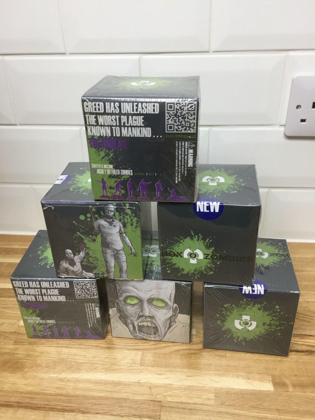 scatola o gli Zombie giocattolo in miniatura origine cifra  Walre Dead NUOVO CON SCATOLA Viola x 6 scatole