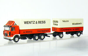 Herpa-Man-Truck-Roadtrain-Wentz-amp-Bess-Self-Made-Gesupert-Painted