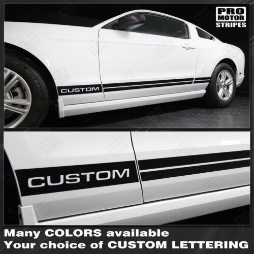 Choose Color Ford Mustang 2005-2017 Rocker Panel Side Stripes Decals