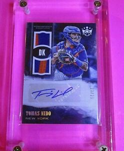 2018 Diamond Kings DK Rookie Materials Signatures Holo GOLD /25 Tomas Nido PATCH