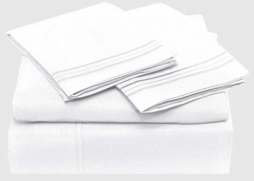 100/% Egyptian Cotton Sheets Set 400 Thread Count Long Staple Sateen Weave 4 pcs