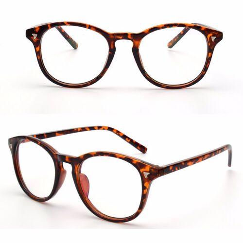 VTG Vintage Style Retro Clear Lens Oval Keyhole Plastic Frame Fashion Glasses