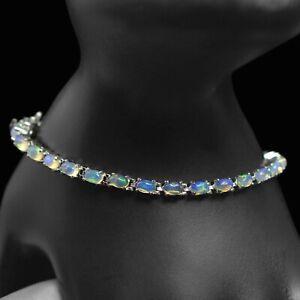 925-Sterling-Silver-Ethiopian-Opal-Gemstone-925-Sterling-Silver-Tennis-Bracelet