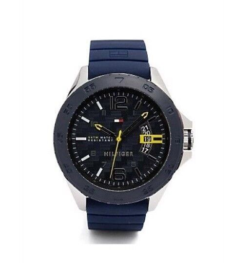 Tommy Hilfiger Men s 1791204 Stainless Steel Casual Sport Watch With Blue  Silicone Band for sale online  56563aa1c
