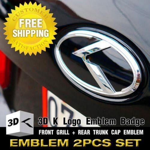 Rear Trunk Black /& Chrome For KIA 11-16 Sportage R 3D K Emblem Front Grille